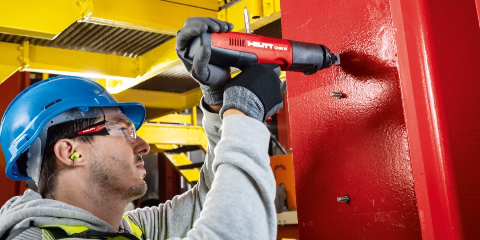 Fastening made using a Hilti powder-actuated nailer