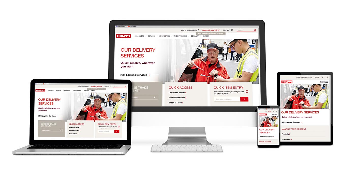 New Hilti Website