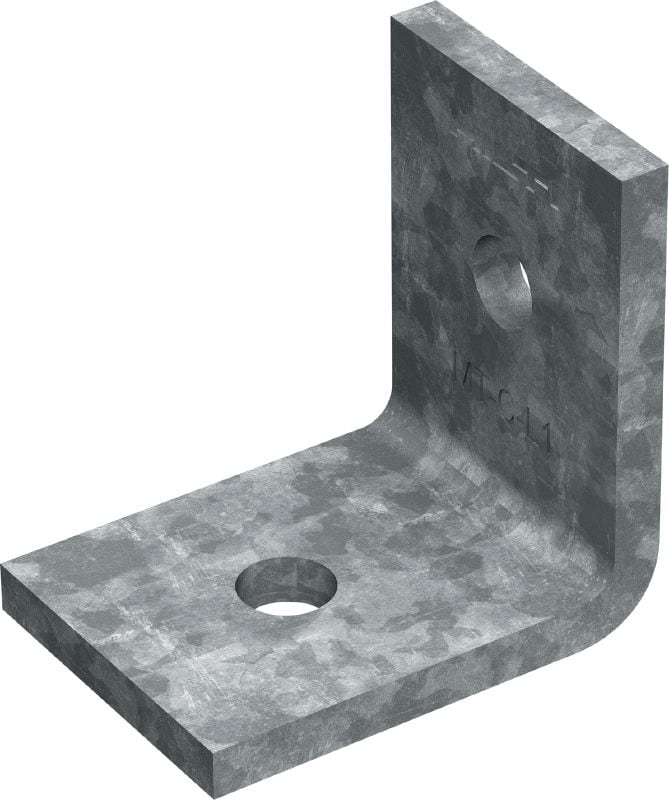 MT-C-L1 OC Corner angle (outdoor) Angle bracket for assembling light-duty strut channel structures in moderately corrosive environments