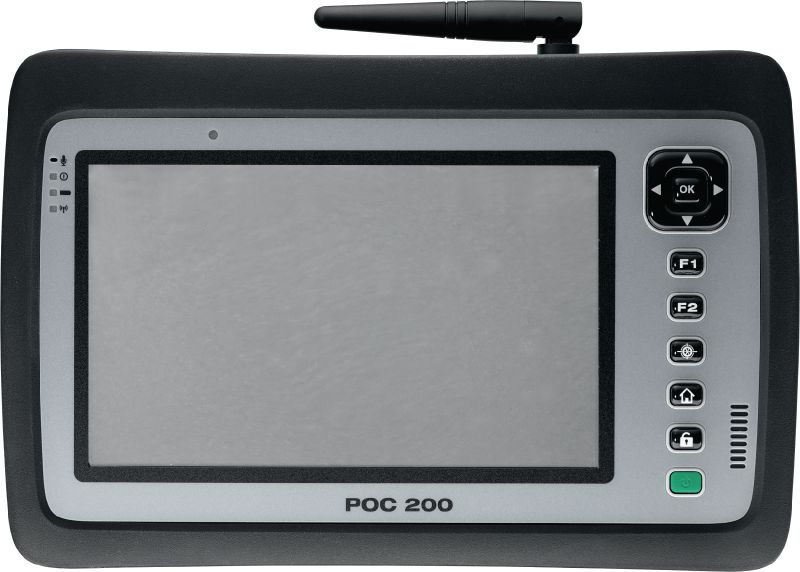 POC 200 Rugged tablet for robotic total stations featuring a 7 touch screen and smart layout software