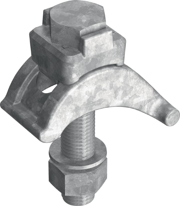 MI-SGC M16 Hot-dip galvanized (HDG) single beam clamp for connecting MI steel baseplates to steel beams