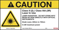 Laser Warning Sign Class 2 (5-pack)