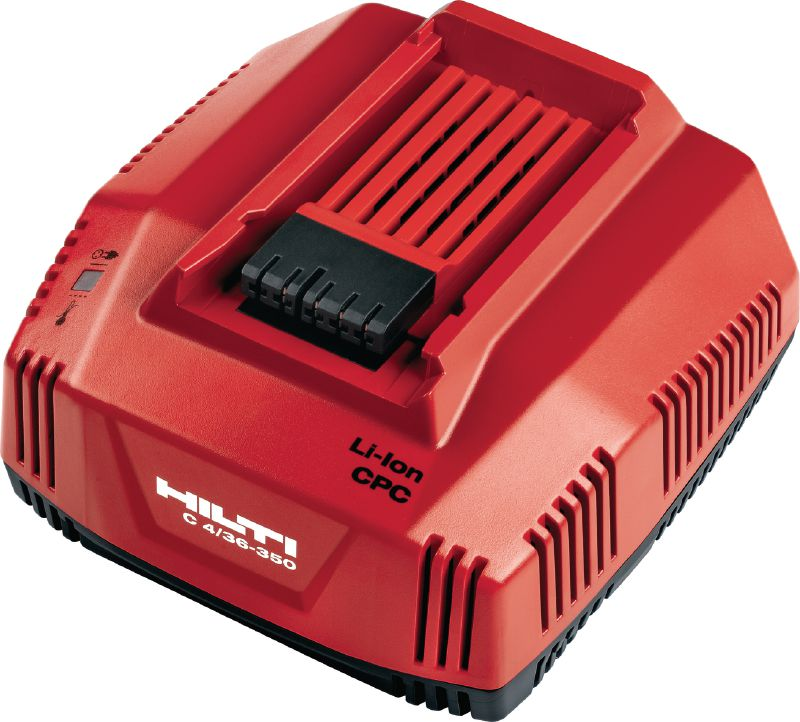 C4/36-350 Fast charger Multi-voltage fast charger for all Hilti Li-ion batteries