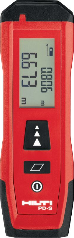 PD-S Easy-to-use laser meter for distance and area measurements up to 60 m / 200 ft