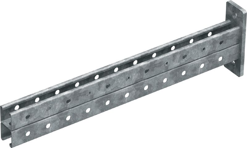 MT-BR-40D OC Cantilever arm (outdoor) Cantilever arm with back-to-back MT-40 strut channels with corrosion-resistant coating