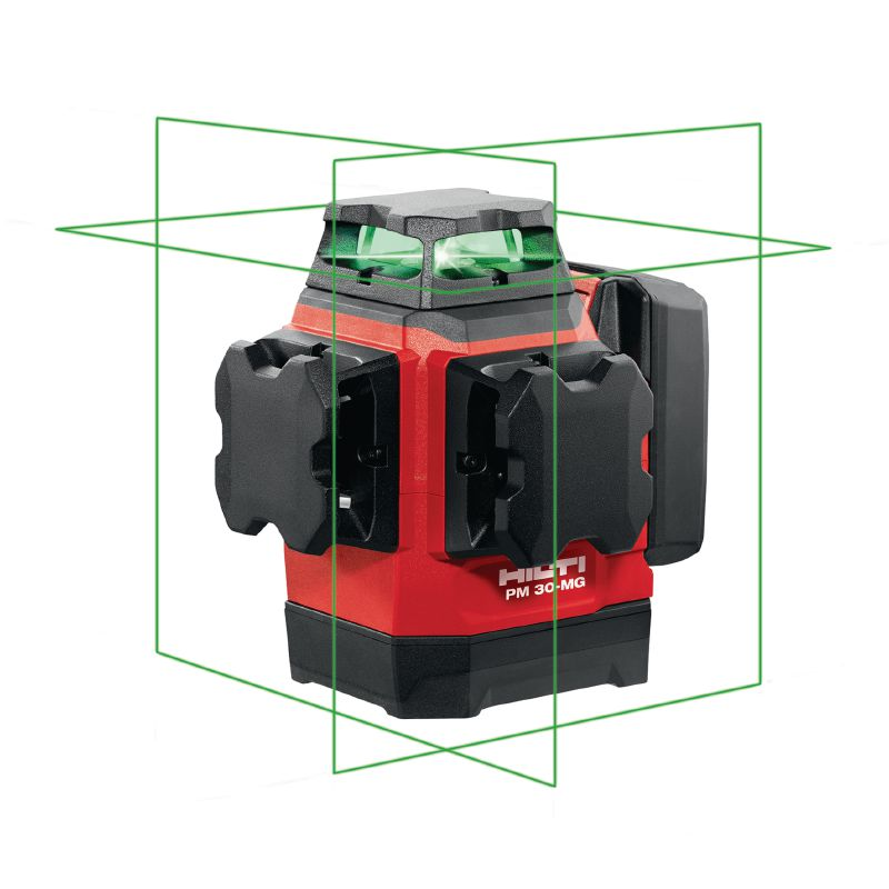 PM 30-MG Multi-line laser Multi-line laser with 3 green 360° lines for plumbing, leveling, aligning and squaring