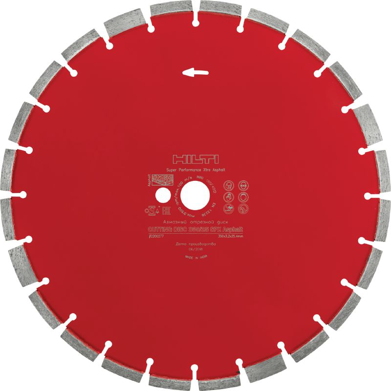 SPX Asphalt Ultimate diamond blade for superior cutting performance in asphalt