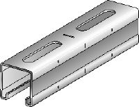 MQ-41-R Stainless steel (A4) 41 mm high MQ strut channel for medium-duty applications