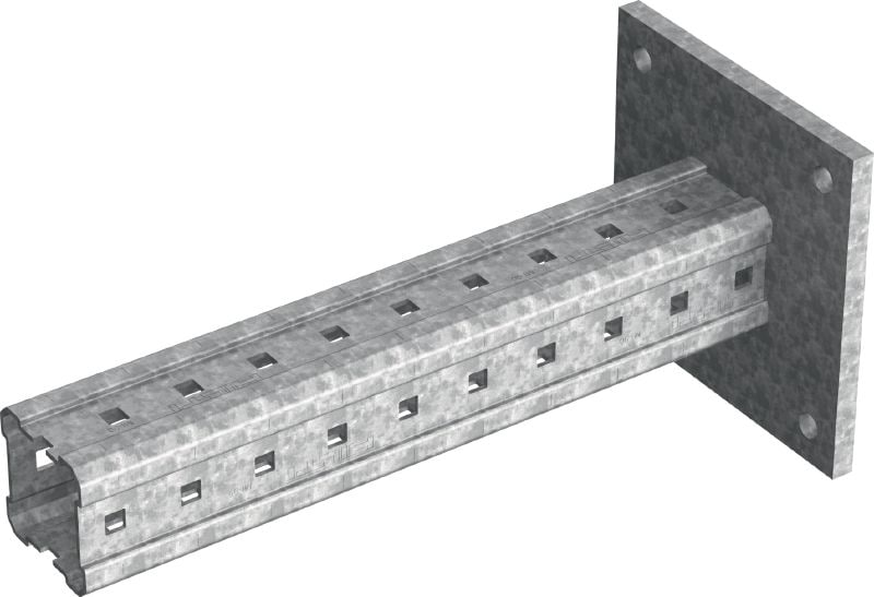 MIC-C90-DH Hot-dip galvanized (HDG) bracket to concrete for heavy-duty applications