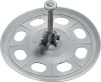 X-SW 60 Soft washer with pre-mounted nail, for attaching waterproofing membrane to concrete or masonry