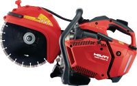 DSH 600-X Compact and light top-handle 63 cc gas saw with blade brake – cutting depth up to 4 3/4 with 12 blades