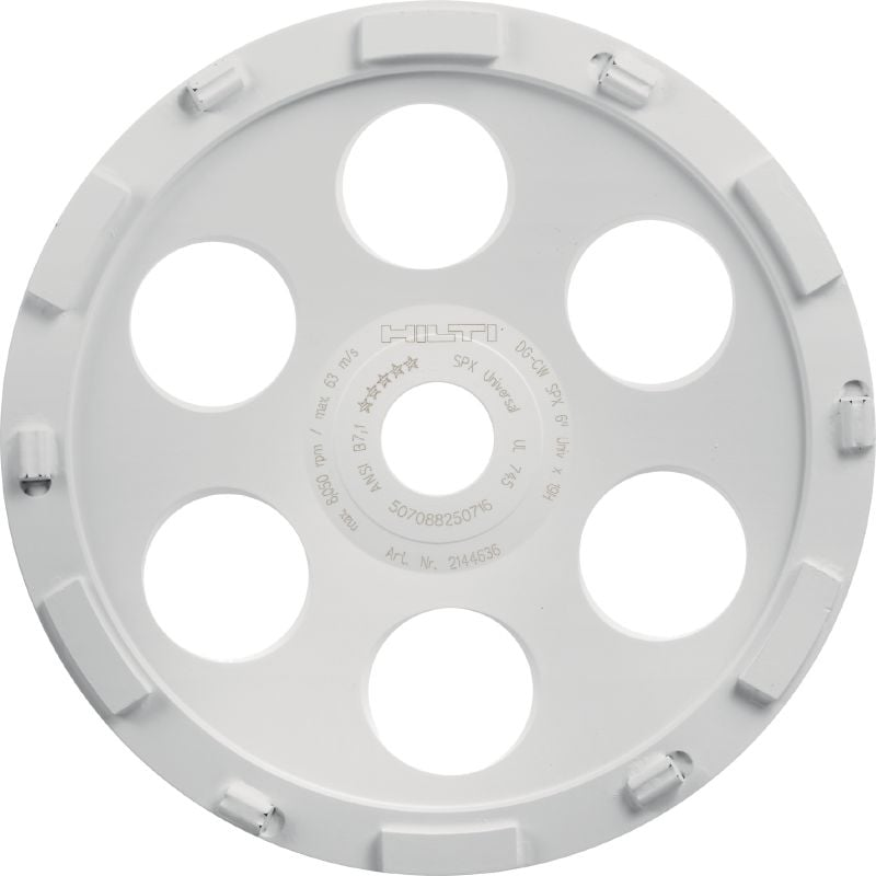 SPX Epoxy diamond cup wheel Ultimate diamond cup wheel for the DG 150 diamond grinder – for removing of thick coatings such as epoxy