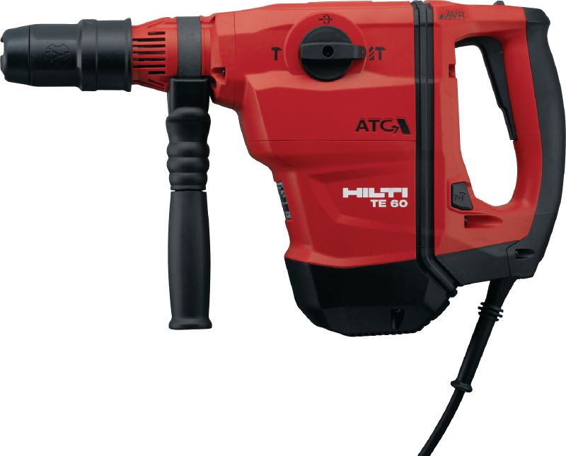 TE 60-ATC-AVR Rotary hammer Versatile and powerful SDS Max (TE-Y) rotary hammer for concrete drilling and chiseling, with Active Vibration Reduction (AVR) and Active Torque Control (ATC)