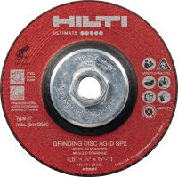 AG-D SPX Ceramic grinding disc Ultimate-performance ceramic grinding disc for fast, rough grinding – recommended for stainless steel (with hub)