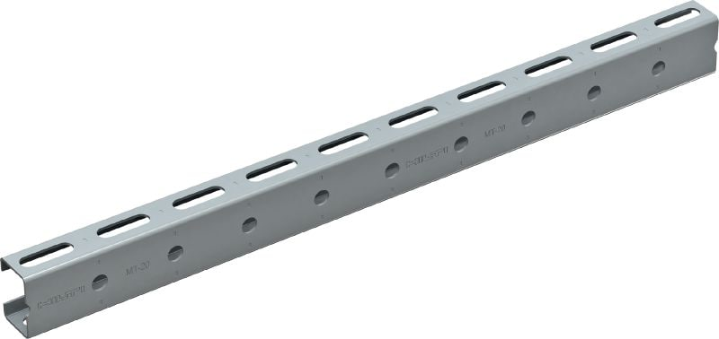 MT-20 Profile (outdoor) Light-duty profile strut channel with corrosion-resistant coating