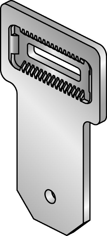 MIC-U-MA Hot-dip galvanized (HDG) multi-angle connector used with MIC-MAH connectors for fastening MI girders to one another at an angle