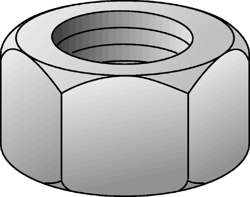 Stainless steel hexagon nut (imperial)
