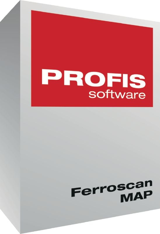 PROFIS Ferroscan MAP PC software for analyzing scan data and exporting to CAD software
