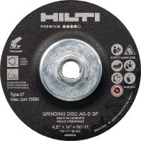 AG-D SP Grinding disc High-performance abrasive grinding disc for fast, rough grinding of stainless/carbon steel (with hub)