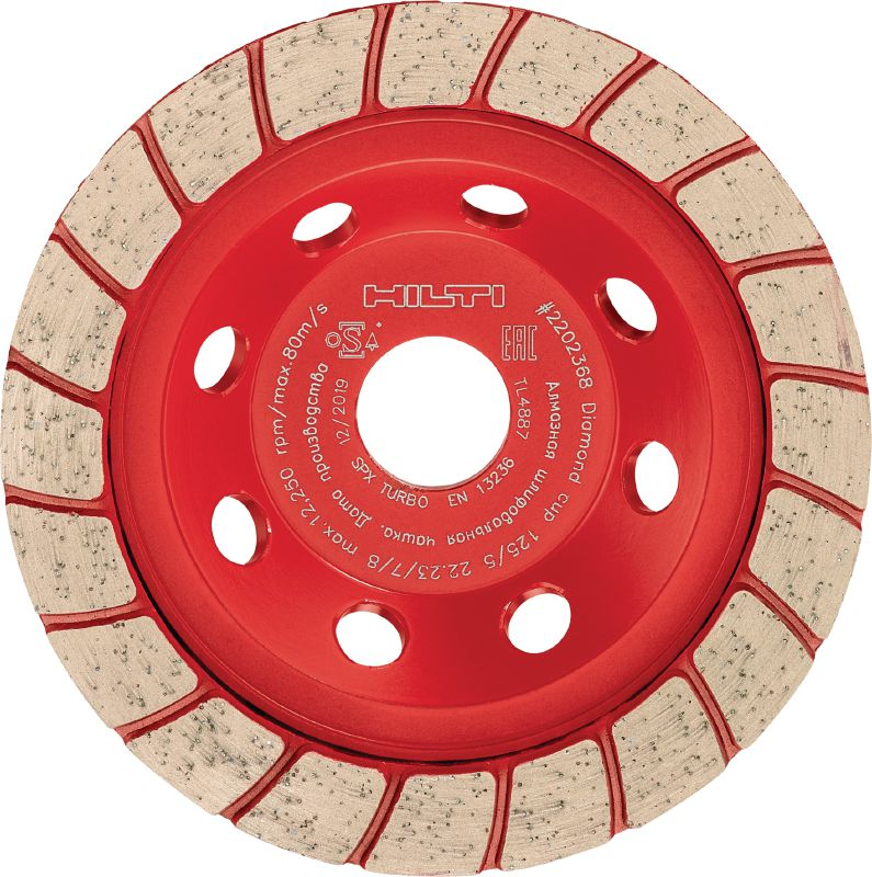 SPX turbo Ultimate diamond cup wheel for angle grinders – for finishing grinding concrete and natural stone