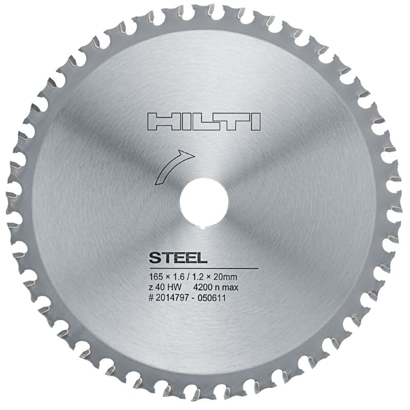 Steel cutting Premium circular saw blade for straight, fast, cold cutting in metal