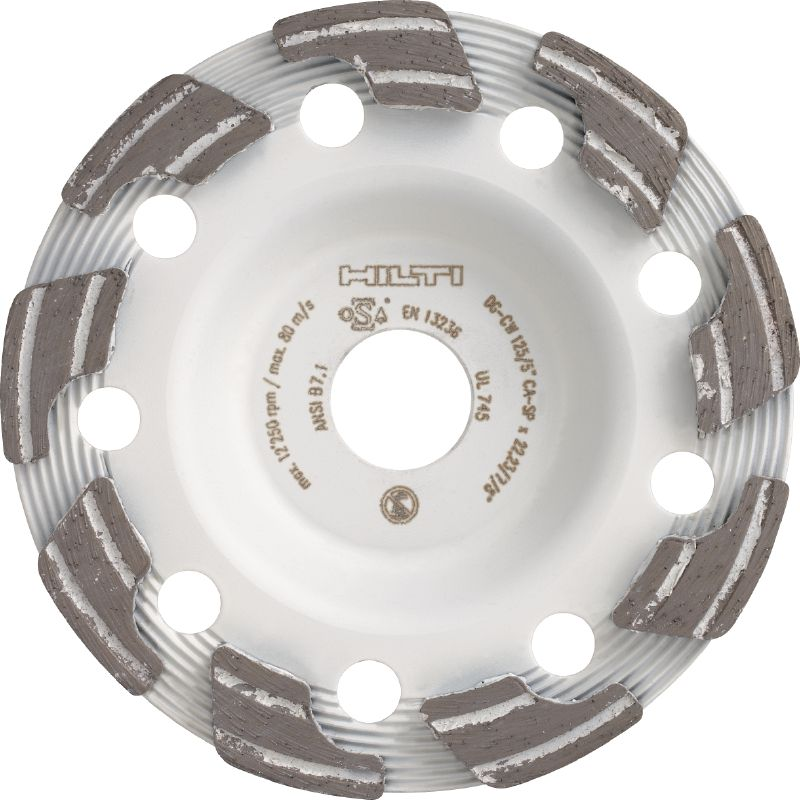 SPX abrasive Ultimate diamond cup wheel for the DG 150 diamond grinder – for grinding green and abrasive concrete