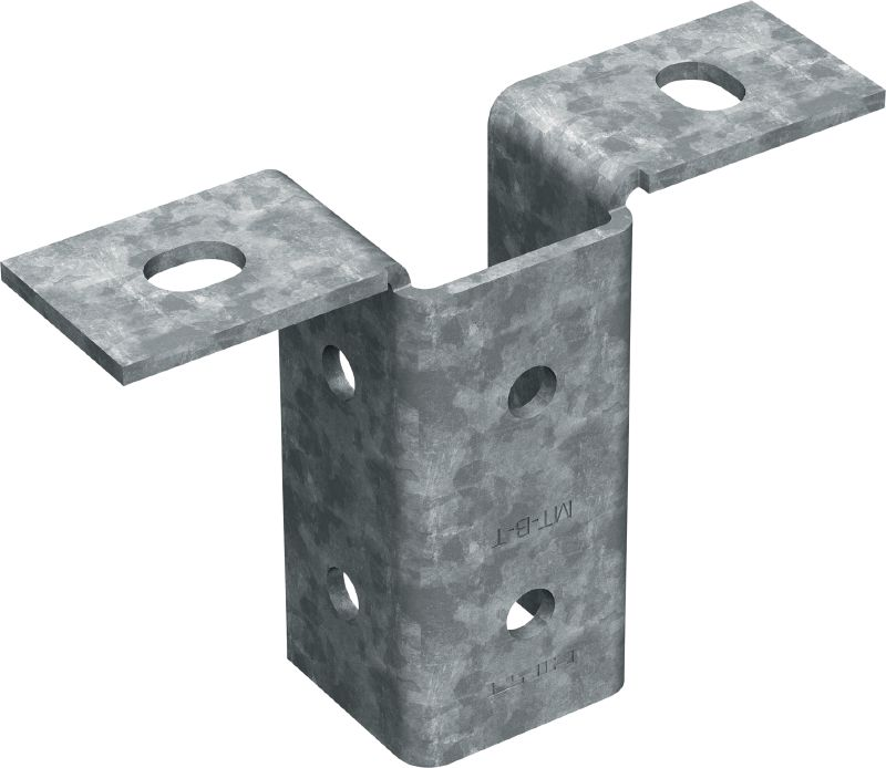 MT-B-T OC Light-duty baseplate (outdoor) Base connector for anchoring light-duty strut channel structures to concrete or steel in moderately corrosive environments