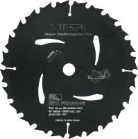 Wood framing circular saw blade (CPC) Ultimate circular saw blade for wood framing, offering more run time for cordless saws