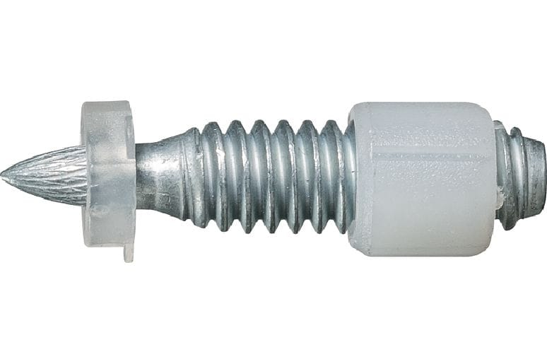 X-EW6H Carbon steel threaded stud for use with powder actuated nailers on steel (8 mm washer)