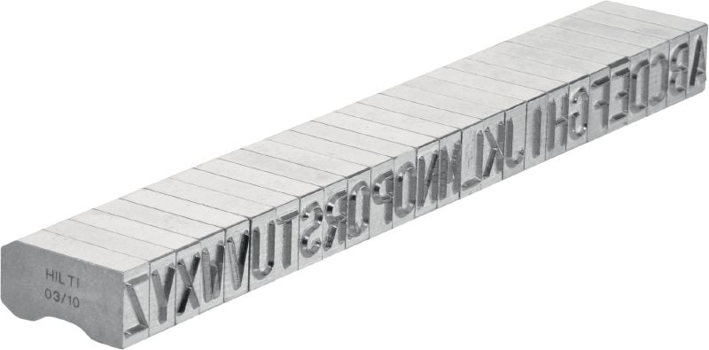 X-MC S 8/10 Sharp-tipped, wide letter and number characters for stamping identification markings onto metal