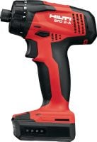 SFD 2-A Cordless drill driver Subcompact class cordless 12V screwdriver powered by Li-ion battery with 1/4 hexagonal chuck for light-duty applications