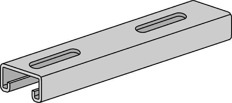 HS Hot-dip galvanized (HDG) strut channels for light- to medium-duty applications 13/16 - 12 ga