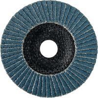 AF-D FT Flap discs - SP Premium Premium fiber-backed flat flap discs for rough to fine grinding of stainless steel, steel and other metals
