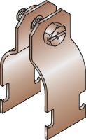 MH-CB Copper-colored strut clamp for attaching copper tubing and pipes to strut channels