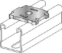 MQZ-F Stainless steel (A4) bored plate for trapeze assembly and anchoring (imperial)