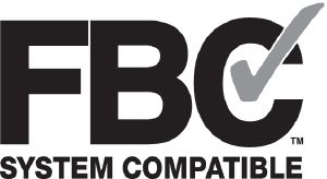 "FBC™ System Compatible indicates that this product has been tested, and is monitored on an ongoing basis, to assure its chemical compatibility with FlowGuard Gold®, BlazeMaster® and Corzan® piping systems and products made with TempRite® Technology."" ""The FBC System Compatible Logo, FBC™, FlowGuard Gold®, BlazeMaster®, Corzan®, and TempRite® are trademarks of Lubrizol Advanced Materials, Inc. or its affiliates."