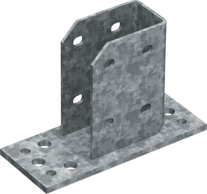 MT-B-GS T OC Girder baseplate Base connector for anchoring MT-70 and MT-80 girder structures to concrete and steel in moderately corrosive environments
