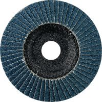 AF-D Flap discs - SP Premium Premium fiber-backed convex flap discs for rough to fine grinding of stainless steel, steel and other metals