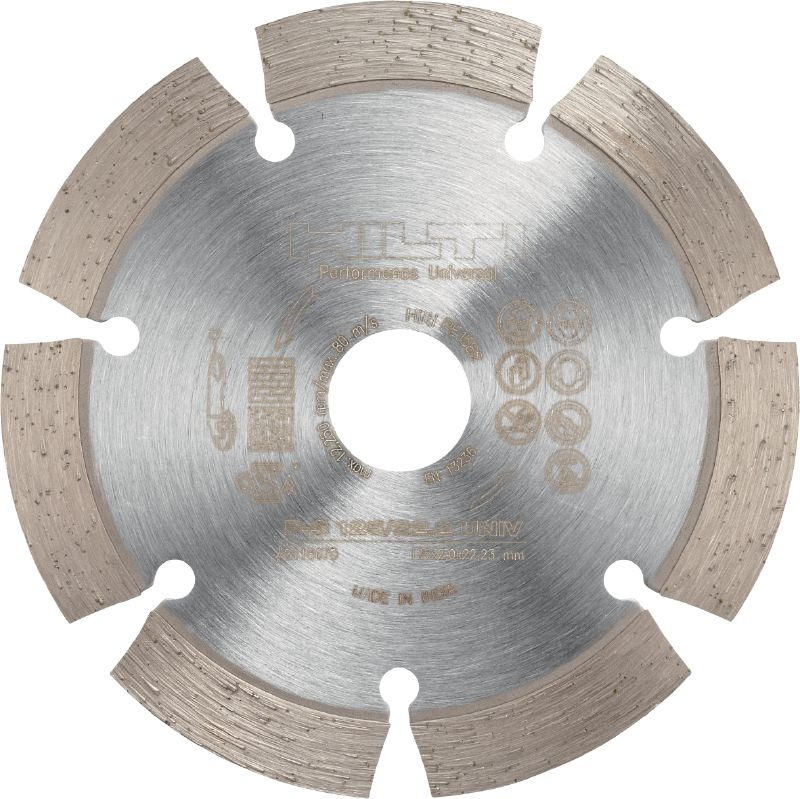 P Universal Diamond blade for cutting in different base materials