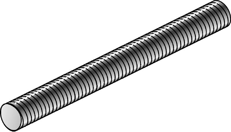 Electrogalvanized threaded rod