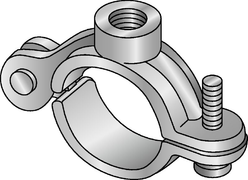 SR-EG Electro-galvanized split ring for suspending uninsulated stationary pipes