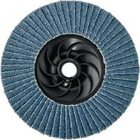 AF-D PL Flap discs thread - SPX Ultimate Ultimate plastic-backed convex flap discs with thread for rough to fine grinding of stainless steel, steel and other metals