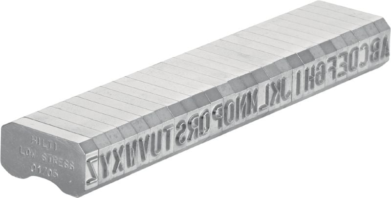 X-MC LS 5.6/6 Round-tipped, narrow letter and number characters for stamping identification markings onto metal