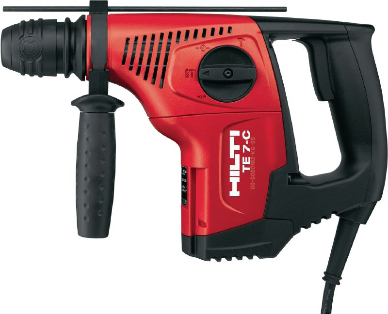 TE 7-C Powerful D-grip, triple-mode SDS Plus (TE-C) rotary hammer with chipping function