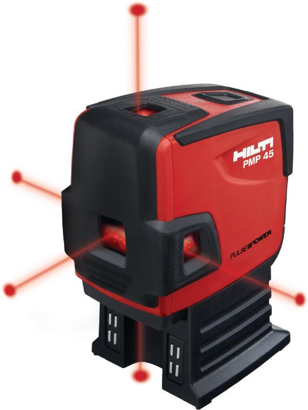 PMP 45 Point laser with 5 points for plumbing, leveling, aligning and squaring with red beam
