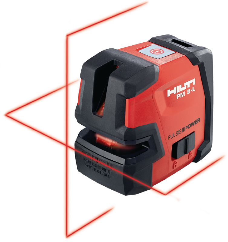 PM 2-L Line laser level Line laser with 2 lines for leveling, aligning and squaring with red beam