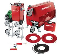 DSW 3018-E High power (30 kW) electric wire saw for outstanding heavy-duty cutting performance