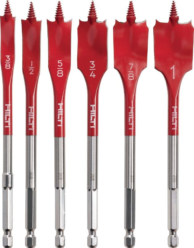 WDB-S Spade bit set Spade bit set for fast drilling of shallow holes in wood