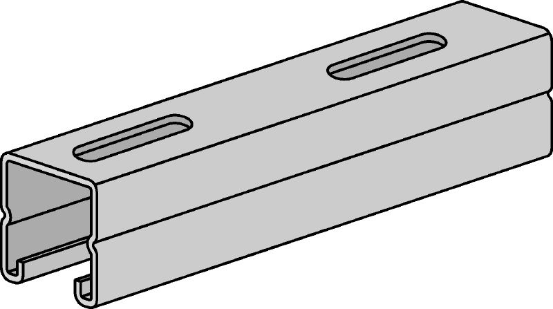 HS Pre-galvanized strut channels for light- to medium-duty applications 1-5/8 - 12 ga