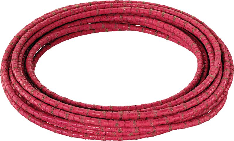 SPX-H Vacuum-Brazed Diamond Wire - Closed loop (Concrete & Steel) Ultimate diamond wire for high performance in reinforced concrete and pure steel – closed loop (15-30 kW wire saw)